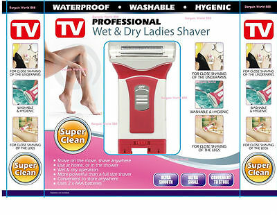 New Wet Dry Mini Ladies Shaver Legs Underarm Bikini Cordless Trimmer Epilator