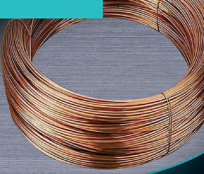 1m 99.5% Pure Copper Wire Round Solid Uncoated Diameter 0.5mm 1mm to 8mm #E3-B1m