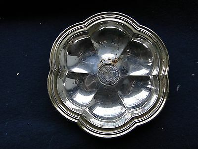 Memento Dish With A Coin Middle, Sterling Silver Made In Malta 1900 Antique