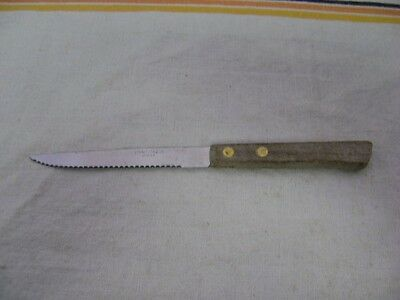 """Vintage Kitchen Knife  Japanese Stainless Steel Serrated Utility ~ 4.25"""" Blade ~"""
