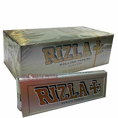 Rizla Silver - 70mm Single Wide Rolling Papers - Ultra Thin Paper - UK Small