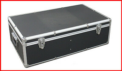 Black Multiple use Aluminum Storage and Carrying Case For DVD Blu-Ray hardware