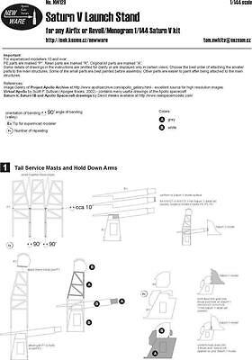 New Ware 1/144 NW129 Saturn V - Launch Stand for Airfix or Revell