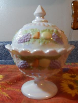 WESTMORELAND MOTHER OF PEARL LIDDED COMPOTE