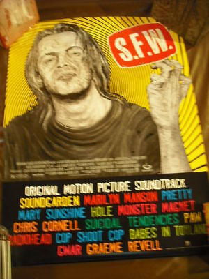 SFW Soundtrack Soundgarden Hole.. In-Store Promo Poster