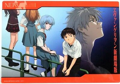 Evangelion Clear Plate Poster mini shitajiki pencil board EVA Japan official 1