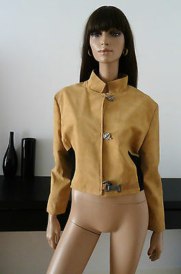 Veste vintage 90's VODKA ORANGE Beige/noir taille 38/40/attaches métal