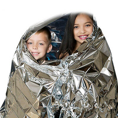 Outdoor Hiking Camping Portable Reflective Aluminum Heat Emergency Blanket