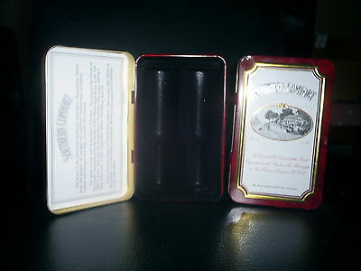 SOUTHERN COMFORT UNUSED EMPTY TIN FOR 2 MINIATURE BOTTLES 2000s HINGED MINT USA