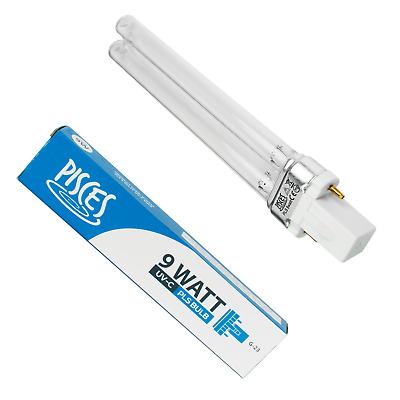 2 X 9W 9 Watt Pls Pond Filter Uv/Uvc Bulb/Light/Tube/Lamp Ultra-Violet Clarifier