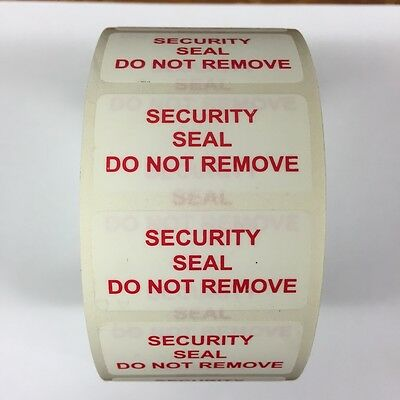 Tamper Evident Security Seals Do Not Remove Labels 20mm x 40mm