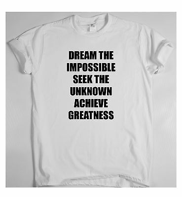 Dream the impossible x motivational t shirt training sport money rich tee win