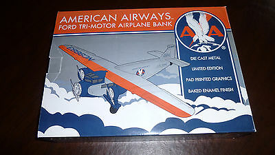 Spec-Cast American Airways  Ford Tri Motor Airplane Bank stock # 49007