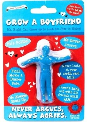 Grow Your Own Boyfriend A Joke Gift Secret Santa Adults Comes In (Blue) UK SELL