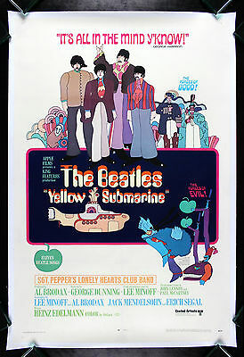 YELLOW SUBMARINE * CineMasterpieces ORIGINAL MOVIE POSTER 1968 THE BEATLES
