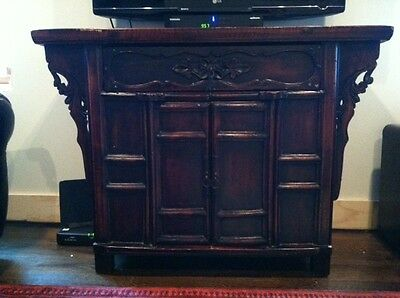 Antique hand crafted Asian style cabinet