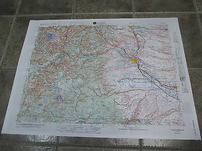 Yakima Washington RAISED RELIEF Topographical MAP HUBBARD SCIENTIFIC 1971 NOS