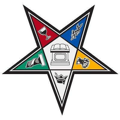 """Order of the Eastern Star Large 4"""" Reflective Decal Sticker"""