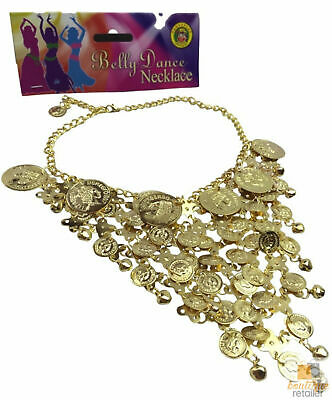 BELLY DANCE NECKLACE Indian Fancy Dress Costume Gypsy Bollywood Tribal Boho New