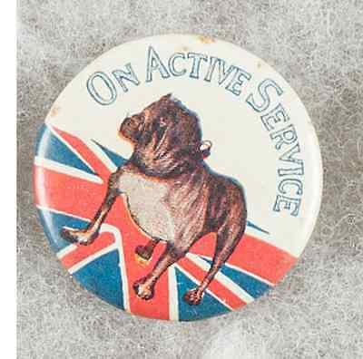 WW1 Australian 1918 On Active Service Pinback Button Badge