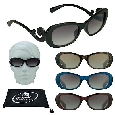 Womens Designer Tinted Sun Readers Computer Reading Sun Glasses Swirl Arms 1.0 4