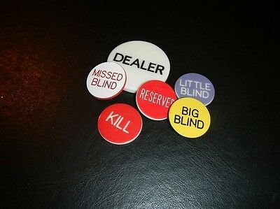 DEALER BUTTON SET for poker card games