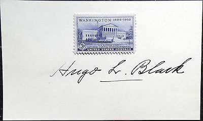 Associate Justice Hugo L. Black Signed Card Served From 1937 to 1971