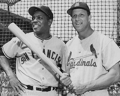 Willie Mays Stan Musial Baseball 8 x 10 photo ( 659 - 15  )
