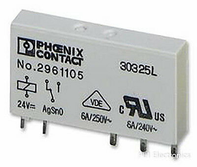 Phoenix Contact   2961105   Relay, 24Vdc, 6A, Spdt, Socket Mount