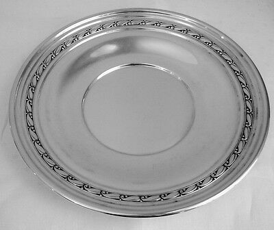 "Fine Randahl Sterling Round Tray or Plate Chicago Arts and Crafts ""Leaf Border"""