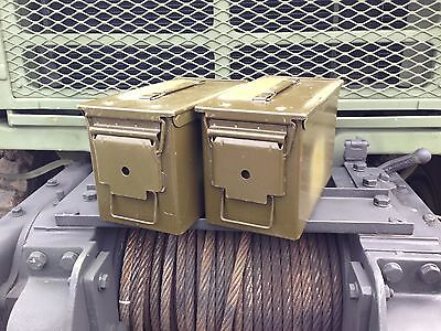 2 Pack! 50 Cal M2A1 Ammo Can Box Grade 1 Excellent Condition .50