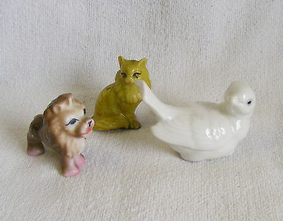 3) sMaLL glass/porcelain animal FIGURINES, SEE ALL