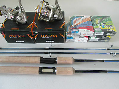 Shimano Bass One Spinning Rod & Spinning Reel 2000 & Spectra Line Combo 3