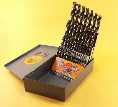 Drill Hog® 29 Pc HI-Molybdenum M7 Drill Bit Set Metal Bits Lifetime Warranty