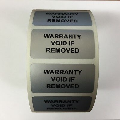Tamper Evident Warranty Void if Removed Seal / Labels (Stickers) 30mm x 60mm
