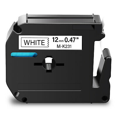 1 PK Black on White Label Tape Compatible for Brother M-K231 MK231 P-Touch PT85