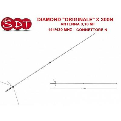 "Diamond ""originale"" X-300N Antenna 3,10 Mt 144/430 Mhz - Connettore N"