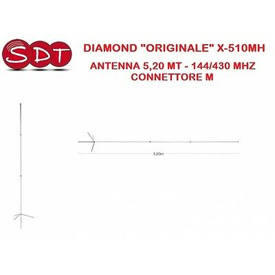 "Diamond ""originale"" X-510Mh Antenna 5,20 Mt 144/430 Mhz - Connettore M"