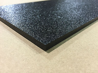 "ABS Black Plastic Sheet 1/8"" x 12"" x 24""  (.125"") Haircell 1 side stereo"