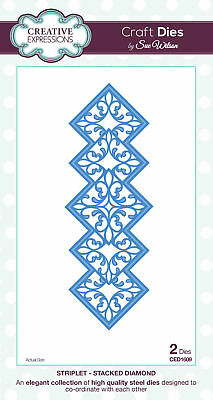 CREATIVE EXPRESSIONS Craft Dies Sue Wilson STRIPLET COLLECTION Clearance
