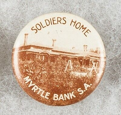 World War One Soldiers Home Myrtle Bank South Australia Pinback Button Badge