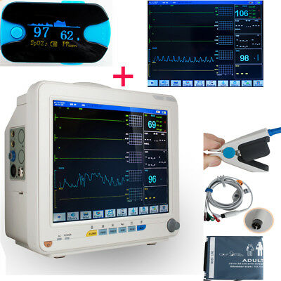 ICU CCU 4-Parameter Vital Sign Patient Monitor EKG/NIBP/SPO2/PR