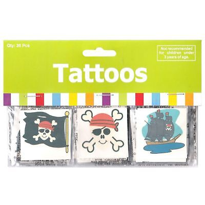 36 x Temporary Pirate Tattoos...Party Favours...Party Loot Bag Supplies