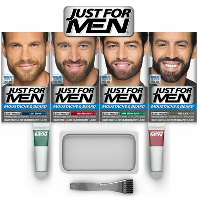 ツ Best Price!  Just For Men Moustache & Beard -  All Shades & Colours  Available