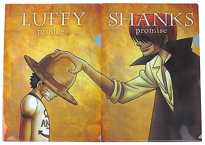 Banpresto One Piece Luffy & Shanks Promise 2 Clear File set Japan anime official
