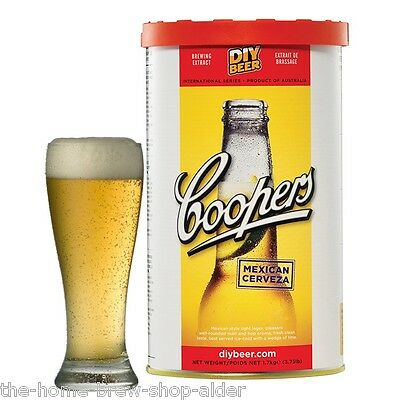 Coopers Mexican Cerveza Beer Kit - Home Brew - Beer Making - Homebrewing