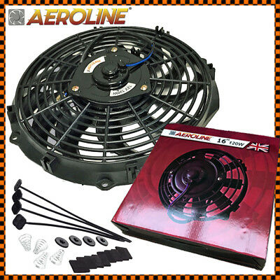 "16"" AeroLine Electric Radiator / Intercooler 12v Cooling Fan  ideal LANDROVER"