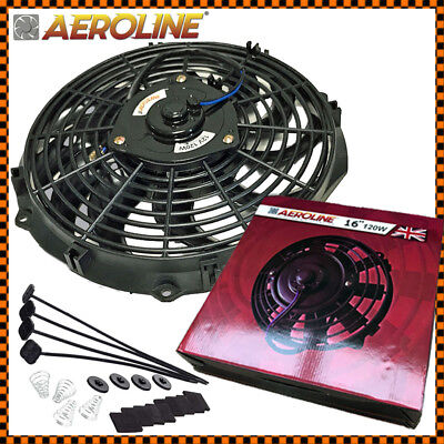 "16"" Aeroline® Electric Radiator / Intercooler 12v Cooling Fan ideal LANDROVER"