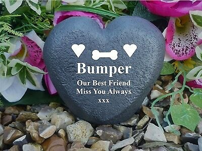 Pet Memorial Heart - Personalised - Completely Weatherproof - Bone