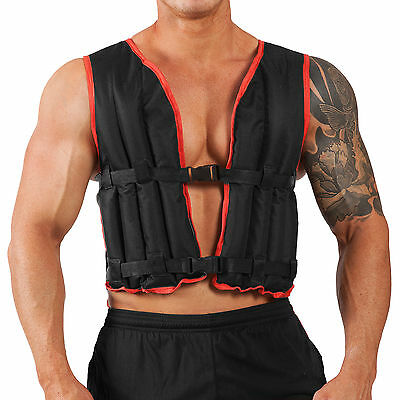 Weighted Vest 10kg Jacket Running Training Crossfit Weights Loss Gym Exercise